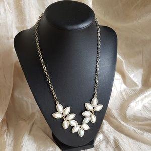 Lauren Conrad milk white with faint Teal necklace